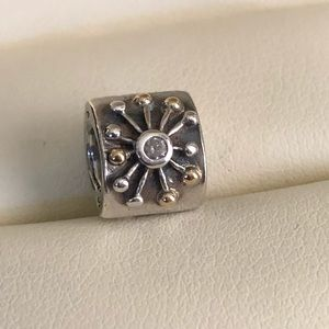 Pandora Desert Star Silver & Gold Charm